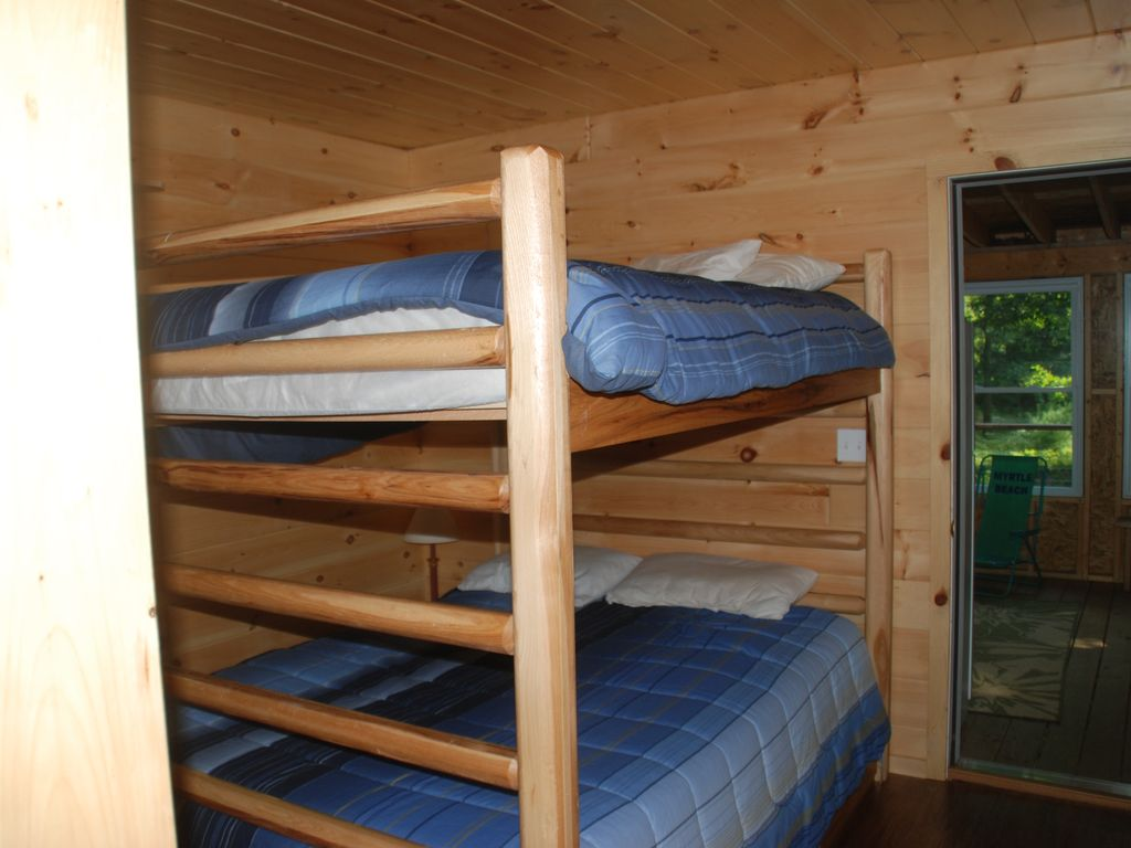 Queen bunk beds for plenty of room.