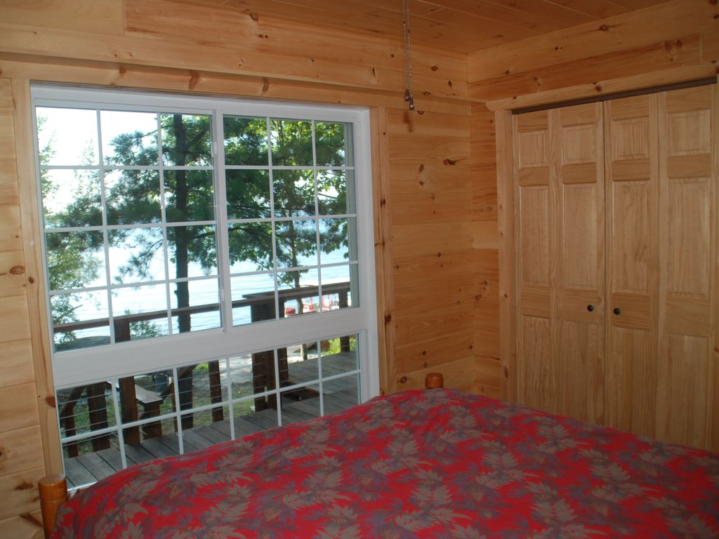 Master Bedroom has view of shippng channel