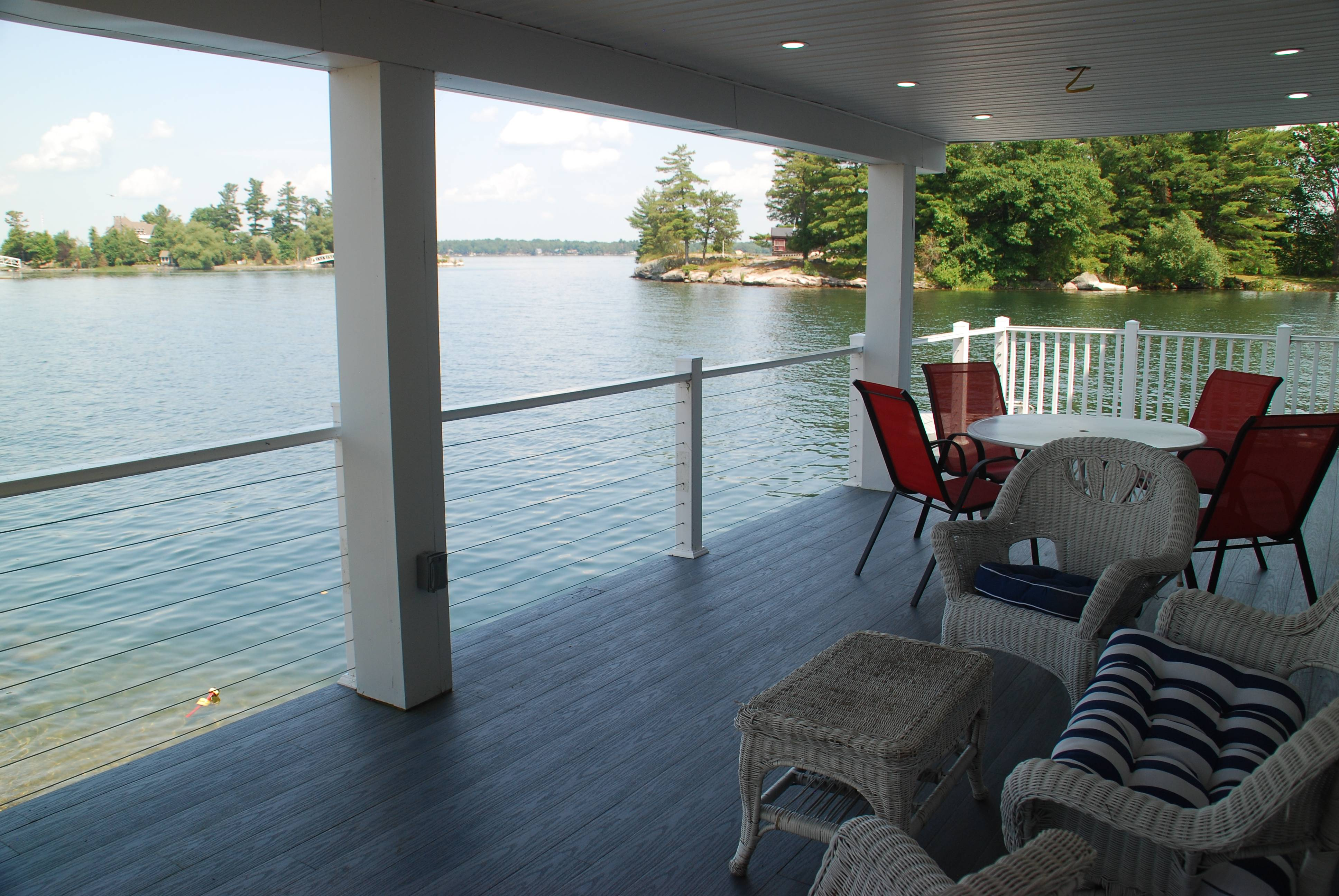 Lower deck looking at Goose Bay