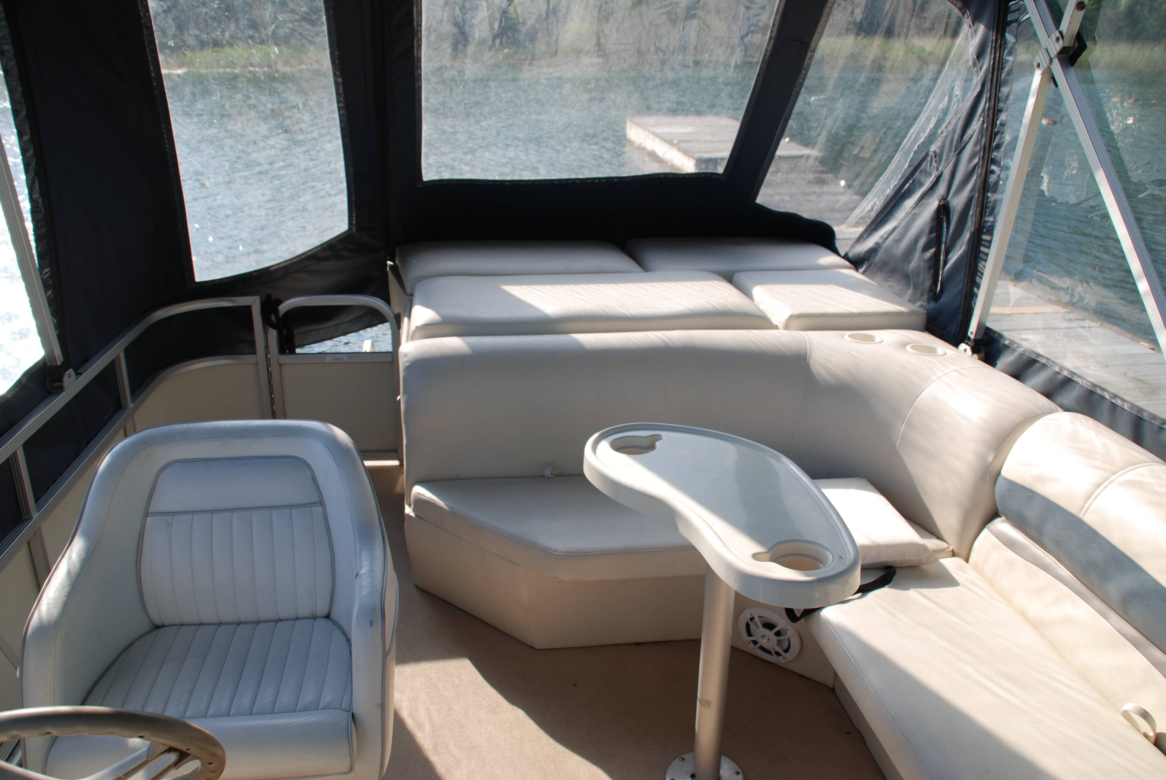 Inside view of Pontoon seating